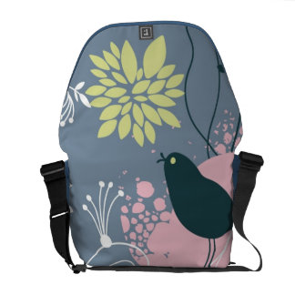 Floral Pattern Messenger Bag
