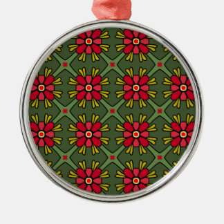 Floral Pattern Metal Ornament