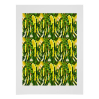 Floral pattern of nature poster