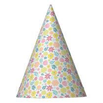 Floral Pattern Party Hat