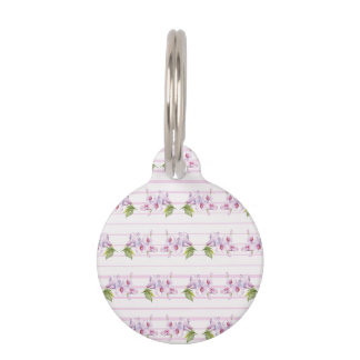 Floral pattern pet tag