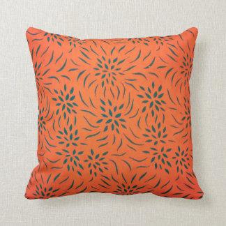 Floral Pattern Pillow for Home Decor I Orange Throw Pillows