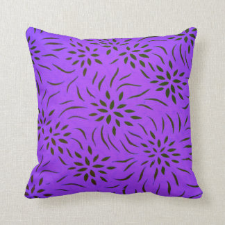 Floral Pattern Pillow for Home Decor I Purple Throw Pillows