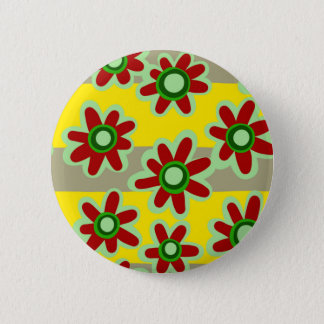 floral pattern pinback button