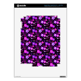 Floral pattern pink and purple iPad 3 decal