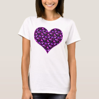 Floral pattern pink and purple T-Shirt