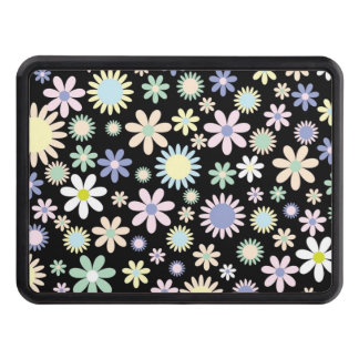 Floral pattern tow hitch covers