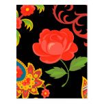 Floral Pattern Postcards