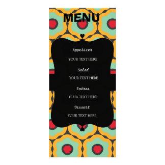 Floral pattern rack card