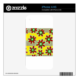floral pattern skin for iPhone 4