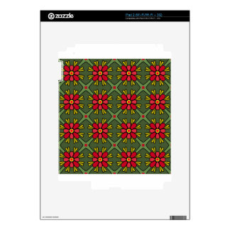 Floral Pattern Skins For iPad 2