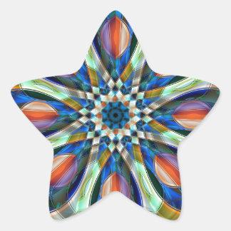 Floral pattern star sticker