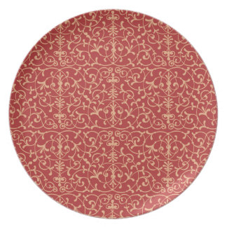Floral Pattern Sweet Plate
