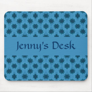 Floral Pattern Template Mouse Pad
