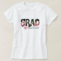 Floral Pattern Text Custom Graduation T-Shirts