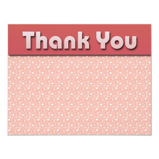 FLORAL PATTERN THANK YOU NOTES CUSTOM ANNOUNCEMENT
