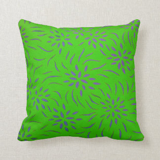 Floral Pattern Throw Pillow for Home Decor I Green Throw Pillow