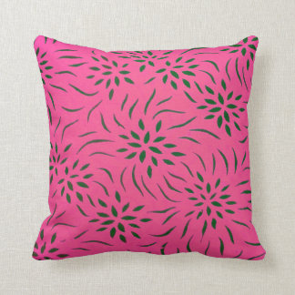 Floral Pattern Throw Pillow for Home Decor I Pink Throw Pillows