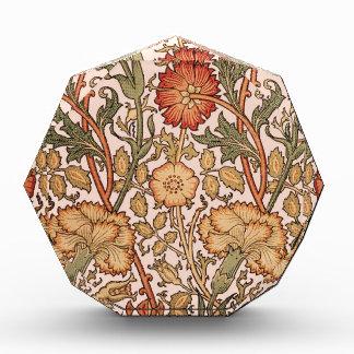 Floral Pattern Vintage Pink Designer Fabric Acrylic Award