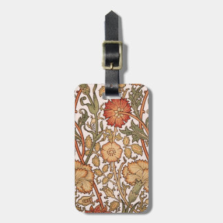Floral Pattern Vintage Pink Designer Fabric Tags For Bags