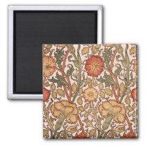 Floral Pattern Vintage Pink Designer Fabric Magnet