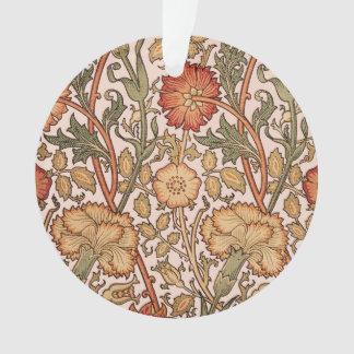 Floral Pattern Vintage Pink Designer Fabric Ornament