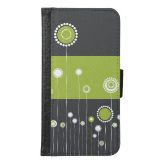 Floral Pattern Wallet Phone Case For Samsung Galaxy S6