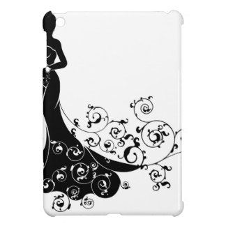 Floral Pattern Wedding Bride Silhouette Case For The iPad Mini