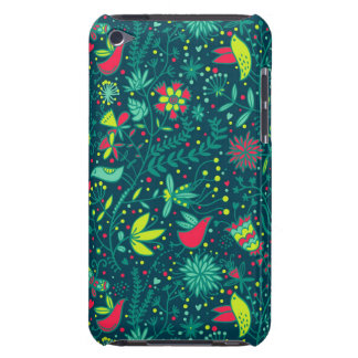 Floral pattern with cartoon birds iPod Case-Mate cases