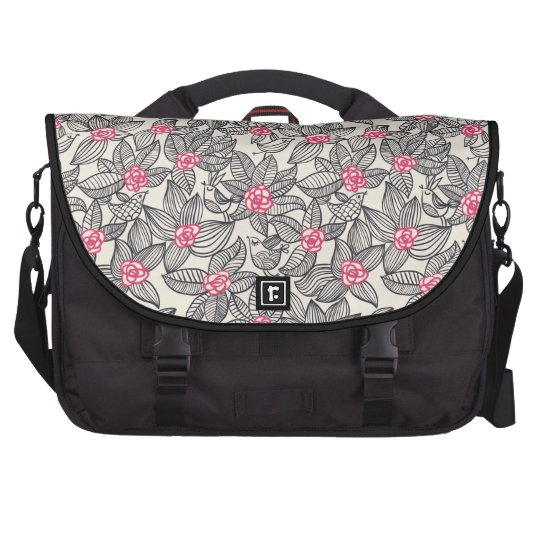 Floral pattern with cartoon birds commuter bags