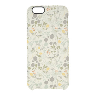 Floral Pattern with cute birds Clear iPhone 6/6S Case