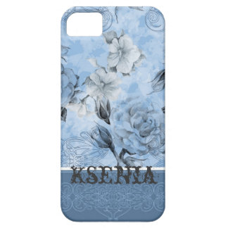 Floral pattern with designed frame cover for iPhone 5/5S