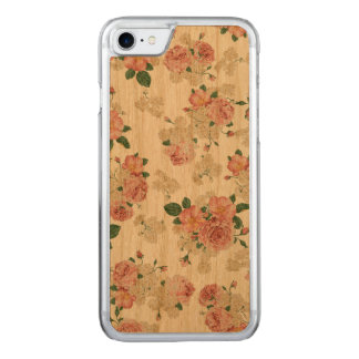 Floral pattern wooden iphone carved iPhone 8/7 case