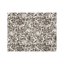 Floral Pattern Wrapped Canvas