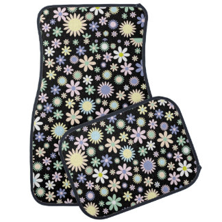 Floral pattern car mat