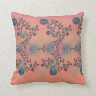 Floral Patterned fractal Throw Pillow