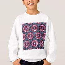 Floral Patterns and Gray Circles Sweatshirt