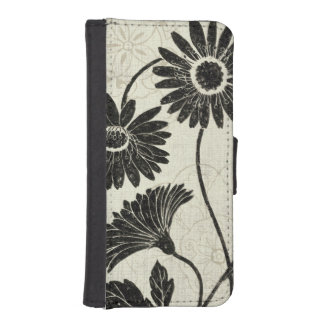 Floral Patterns in Black and White iPhone 5 Wallets