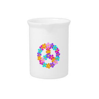 FLORAL PEACE BEVERAGE PITCHERS