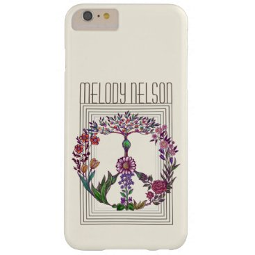 Floral peace sign simple and modern flower power barely there iPhone 6 plus case