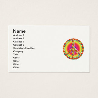 Floral Peace symbol Business Card