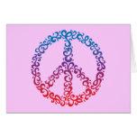 Floral Peace Symbol Card