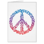 Floral Peace Symbol Greeting Cards