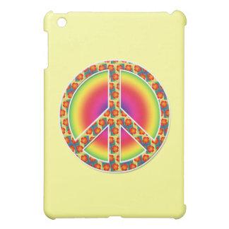 Floral Peace symbol iPad Mini Cases