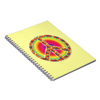Floral Peace symbol Note Book