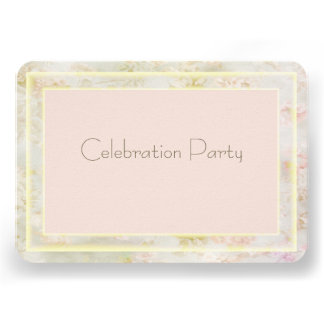 Floral Peach Pink and GoldWedding Reception Cards