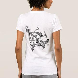 Floral Peacock Pattern Custom T-shirt