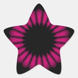 floral pegatina en forma de estrella