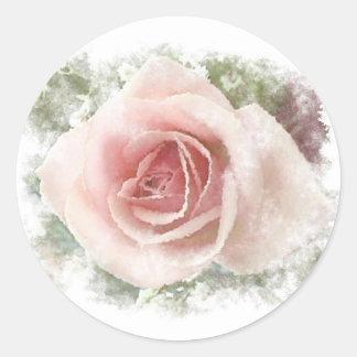 Floral Pegatina Redonda