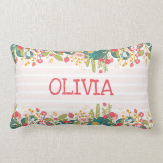 Floral Personalised Pillow
